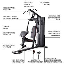 Marcy Mkm 81010 Home Multi Gym With 90 Kg Stack Black Grey