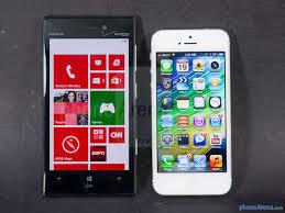 Nokia Lumia 928 vs Apple iPhone 5 ...