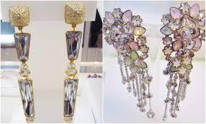 swarovski earrings crystal garden