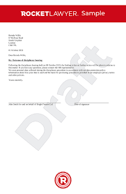 disciplinary outcome letter for