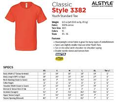 Aaa T Shirt Size Chart Amazon Com Alstyle Apparel Boys Girls Youth Standard