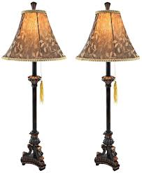 com aspire eleanor buffet lamp set of 2 black brown home kitchen