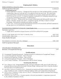 Occupational Therapy Resume Inspiration 2812 Occupational Therapy Resume Resume Badak