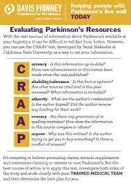 Craap Test Craap Test Davis Phinney Foundation For Parkinsons