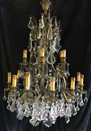 large antique french bronze cage chandelier c 1880 1 of 7