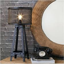 industrial style bedside table lamps chapel rock large black metal lamp and with t89