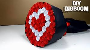 Paper Flower Bouquet Tutorial How To Make Paper Flower Bouquet Heart Shape Tutorial Easy Step By Step 2018