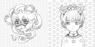 Small Picture Amazoncom Pop Manga Coloring Book A Surreal Journey Through a