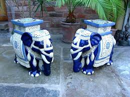 blue ceramic garden stool image of garden stool world market cobalt blue ceramic garden stool