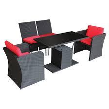 shanghai bistro set blackred 5 pieces rona rona outdoor patio furniture