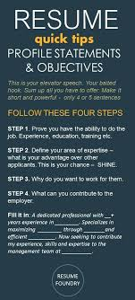 Powerful Resume Objective Statements Resume Steps To Writing A Good Resume Great Resume Objective