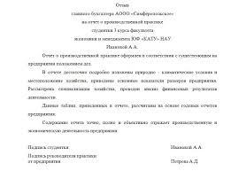 Как составить отчет по практике бухгалтера пример Информация о домене