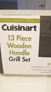 new cuisinart 13 piece wooden handle grill set box for in hollywood fl offerup