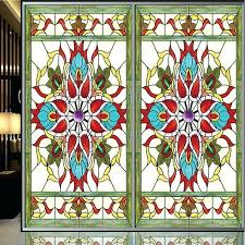 stained glass decals style vintage painting frosted s decorative stained glass window door wall stickers