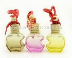 How To Decorate Perfume Bottles Wholesale 100PCS 100ml Refillable Car hang decoration Glass essence 65