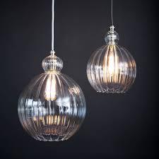 glass globe pendant lighting. Mabel Ribbed Globe Pendant Light Glass Lighting E