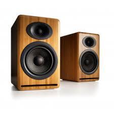 home theater front speakers. audioengine p4 solid bamboo (pr) 2-way passive bookshelf speakers (ap4n) home theater front