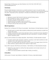 Operations Resume Template Best Of 24 Sales Operations Analyst Resume Templates Try Them Now