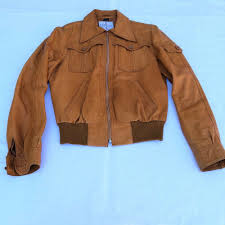 details about vintage wilson leather jacket suede and leather jacket brown size small 40