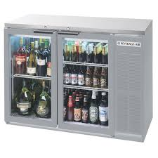 beverage air bb48hc 1 g s 27 48 inch stainless steel glass door back