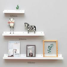 1pc Bamboo Wall <b>Shelf</b> Floating Ledge Storage <b>Wall Hanging</b> ...