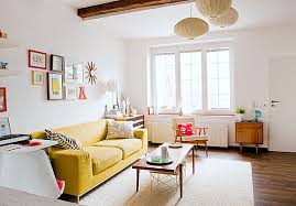 unique decorate a room with white walls fancy classic living room decor with yellow sofa