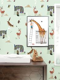 Fiep Westendorp Behang Forest Animals Groen 974 X 280 Cm Kek