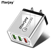 Marjay 3 Ports Quick Charger 3.0 Fast <b>USB</b> Charger LED Light ...