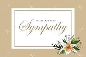 Condolences Sympathy Card Floral Lily Bouquet And Lettering