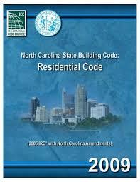 nc residential code 2009 town of garner