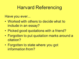 harvard referencing or how to avoid plagiarism harvard 2 harvard referencing
