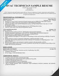 Hvac Technician Resume Awesome Resume Writing Resume Template Ideas