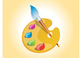 painting easel painter palette vector