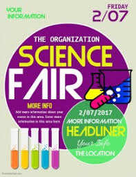 science fair headings printable customizable design templates for science fair postermywall