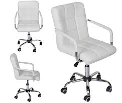 modern office chair. White Modern Office Leather Chair Hydraulic Swivel Executive Computer Desk Task 715335405443 | EBay F