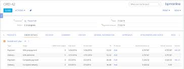 How To Keep Track Of Invoices And Payments Order And Account Management In Crm System Bpmonline Sales