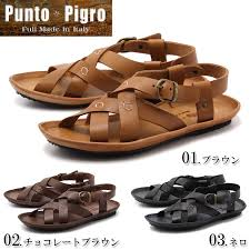 product made in all three colors of プントピグロ mesh leather sandals punto pigro svevi vacc