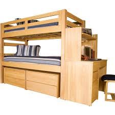 University Loft Graduate Series Twin XL Bunk Bed Natural Finish photo 1 ...