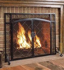 Blacksmith Fireplace DoorBlack Fireplace Doors