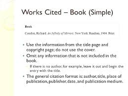 Format For A Work Cited Page