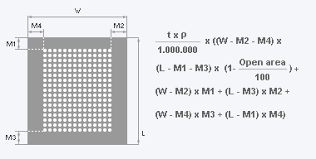 Expanded Metal Size Chart Weight Of A Perforated Sheet Rmig