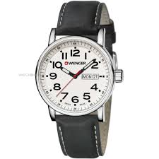 "men s wenger attitude day date watch 010341101 watch shop comâ""¢ mens wenger attitude day date watch 010341101"