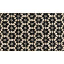 hex tile black 18 in x 30 in door mat