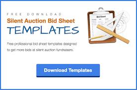 Sample Bid Sheets For Silent Auction Bid Sheets 101 Improve Your Silent Auction With Better Bid Sheets