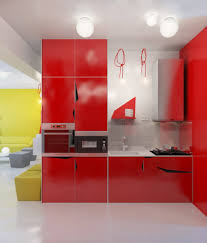 Red Lacquer Kitchen Cabinets Kitchen Cabinet Imaginative Red Kitchens With Red Kitchens And