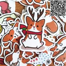 40 pcs mixed cute fox stickers for car styling bike motorcycle phone laptop travel luggage cool funny sticker bomb decals