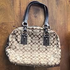Coach soho signature large satchel style 10606