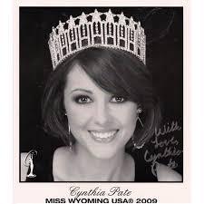 MISS WYOMING USA CYNTHIA PATE SIGNED 8x10 PHOTO