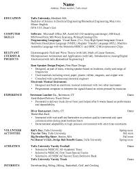 bar back resume samples