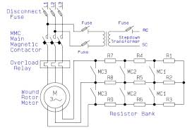 guide to the power circuit and control circuit of the wound rotor electrical schematic wiring diagram of wound rotor motor power circuit